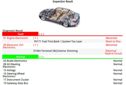 Electronic Car Diagnostic Report